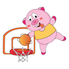 A Plump Pink Loves Sport Animated