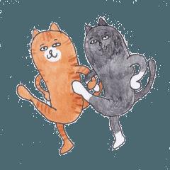 猫の小太郎とお友達