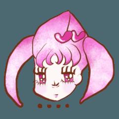 ピンクガール[少女マンガ風]スタンダード03