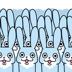 青いウサギ