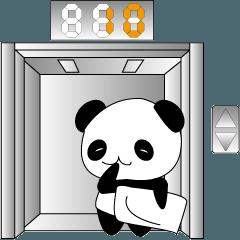 パンダとエレベーター