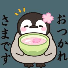 ほのぼの子ペンギン春♪