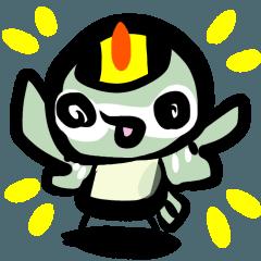 野鳥スタンプ 菊ちゃん