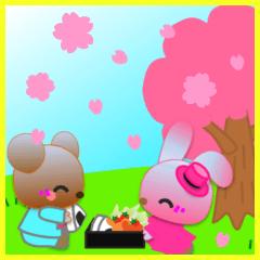 うさぎとくまの日々(春)