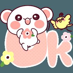 ♡らぶくま♡春恋花ガーリー♡40個♡