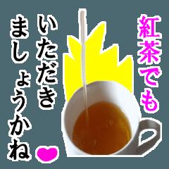 [LINEスタンプ] 【実写】紅茶の画像(メイン)
