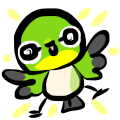 野鳥スタンプ メジロん