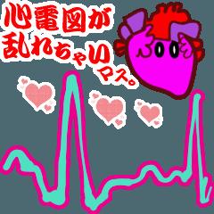 動くユルカワ臓器と心電図達★初!
