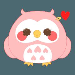 色鳥どりふくろう桜スタンプ