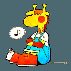 [LINEスタンプ] きりんクンとうさぎサン (1)