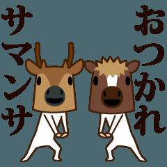 ちび馬と鹿