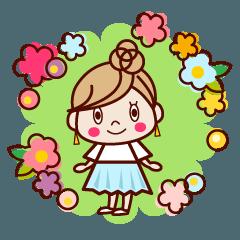 春めく♥大人女子スタンプ