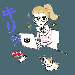 猫しもべなお姉さん