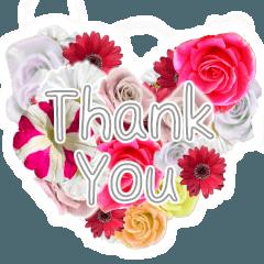 【実写】感謝の気持ちを花で伝えるスタンプ
