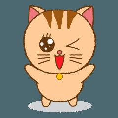 まり・マリ専用【茶トラネコ】名前スタンプ