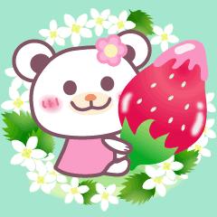 お花いっぱい♪女子力UPなチョコくま♪