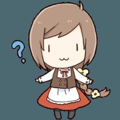 ビアンカちゃんアニメーションスタンプ