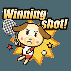 わんこさんのテニス