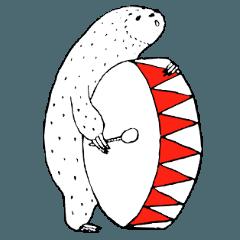 北欧絵本のナマケモノ