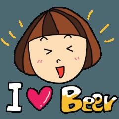 ビール大好き~呑んべえ女子