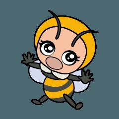 コマルちゃんは花蜂