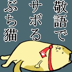 敬語は使えるけどサボり癖のあるブチ猫