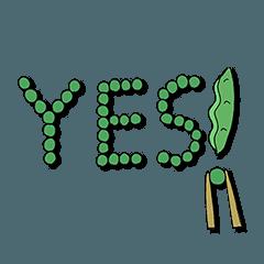 [LINEスタンプ] 豆のスタンプ (1)