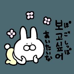 高速で返事するウサギの韓国語