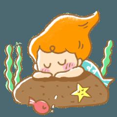 Good Afternoon Mermaid by Heyisee