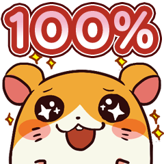 [LINEスタンプ] 100%ハムスター (1)