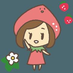 いちごずきんちゃん☆苺大好き