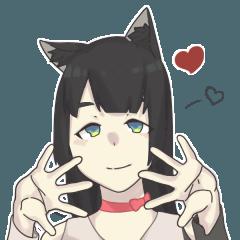 cat girl ameio