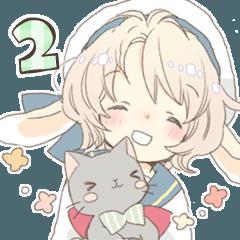 [LINEスタンプ] うさみみ少年ニコラ 2 (1)