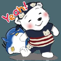 しろくま(白熊、シロクマ)とペンギン 2
