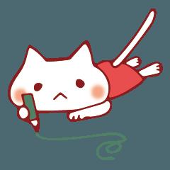 絵を描く猫スタンプ