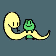 蛇に短し蛙に長し