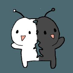 アンテナくん白黒ヒーロー
