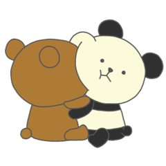 LOVE BEAR AND PANDA