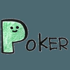 ポーカープレイヤーのためのスタンプ