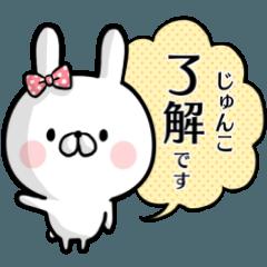 【じゅんこ】専用名前ウサギ
