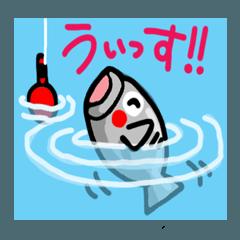 魚のリアクション。