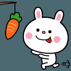 [LINEスタンプ] うごく☆うさぎ喜怒哀楽