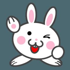 [LINEスタンプ] 顔デカうさぎ玉の日常生活 (1)