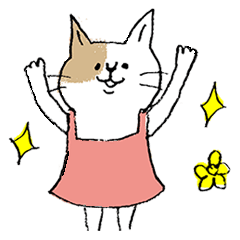 イキウサの猫ちゃんスタンプ