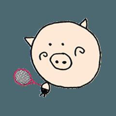 ぶ~吉 テニスをする!
