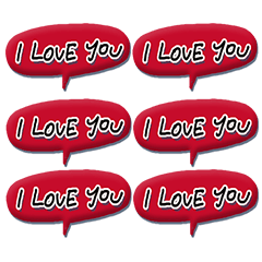 [LINEスタンプ] Love each other stickers (1)