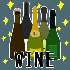 ワイン(WINE)スタンプ(マーク&まさver)