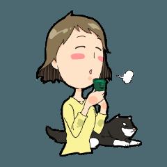 なごみ姉さんと犬