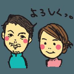 似顔絵スタンプ 02