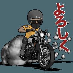 パワフルなオートバイとマッスルライダー